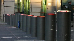 Germany Berlin British Embassy movable bollard - stock footage