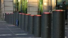 Germany Berlin British Embassy movable bollard - stock footage