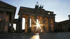 Germany Berlin Traffic Brandenburgertor Stock Footage