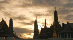 Wat Phra Kaew time-lapse Stock Footage