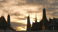 Wat Phra Kaew time-lapse Stock Footage
