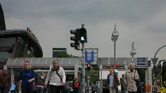 Germany Berlin traffic Zoological garden station Stock Footage