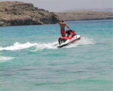 Jetski Swimming And Beach Sports Stock Footage