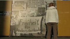 Germany Berlin Kochstrasse Checkpoint Charlie - stock footage