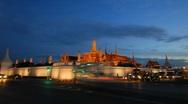 Wat Phra Kaew time-lapse at night Stock Footage
