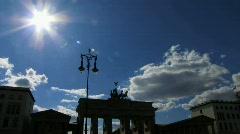 Germany Time-lapse Berlin Brandenburgertor Stock Footage