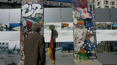 Germany Berlin Potsdamer platz Berliner Mauer wall - stock footage