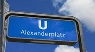 Germany Berlin Alexanderplatz subway Stock Footage