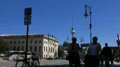 Germany Berlin street scene Karl Liebknecht street Stock Footage