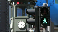 Germany Berlin Potsdamer platz traffic light Stock Footage