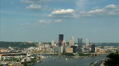 Pittsburgh Skyline 647 - Real Time Stock Footage