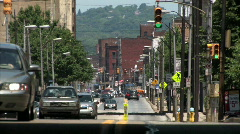 Traffic on a Pittsburgh Street Stock Footage