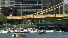 Pittsburgh Boaters 621 Stock Footage