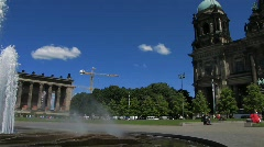 Germany Berlin Altes Museum in Museum insel Stock Footage