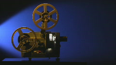 Film projector sequence 3 Stock Footage