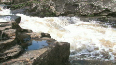 Highland River Fast Moving Water Scotland - stock footage