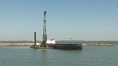 Port construction  Stock Footage