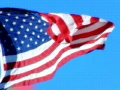 High Speed Camera USA Flag 07 Loop Footage