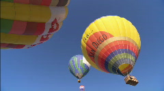 WSHotAirBalloons lowangle Stock Footage