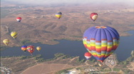 WSHotAirBalloons highangle Stock Footage