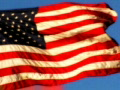 High Speed Camera USA Flag Sunset 01 Loop Footage