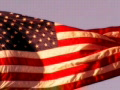 High Speed Camera USA Flag Sunset 04 Loop Footage