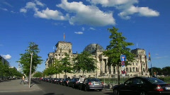 Germany Berlin Reichstag, Bundestag, parliament Stock Footage