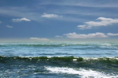 Animated sea with time lapse clouds Stock Footage