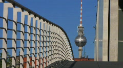 Germany Berlin government district TV tower Stock Footage