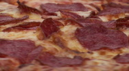 Pepperoni pizza close-up loop - HD  Stock Footage
