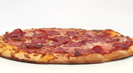 Fresh pepperoni pizza seamless loop - HD  Stock Footage