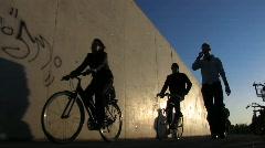 Active urban people biking walking jogging Berlin Germany Europe - stock footage