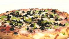 Vegetarian pizza seamless loop - HD  Stock Footage