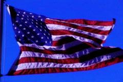 High Speed Camera USA Flag 01 Loop - stock footage