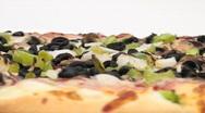 Veggie pizza loop background - HD  Stock Footage
