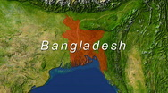 Zooming into Bangladesh Stock Footage