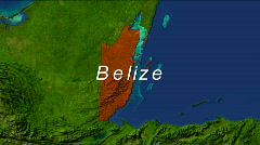 Zooming into Belize - stock footage