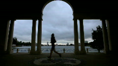 Archway near lake merritt in oakland, CA Stock Footage