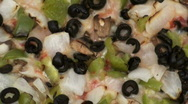 Veggie pizza zoom out background - HD  Stock Footage