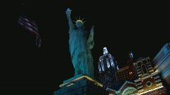 NYNYStatueLiberty lowangle Stock Footage