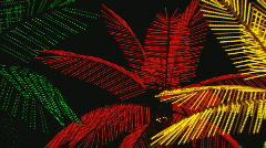 NeonPalmTrees zoom Stock Footage