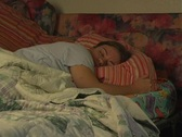 Woman in Bed Asleep Stock Footage