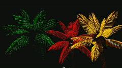 NeonPalmTrees Stock Footage