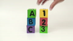 Alphabet blocks ABC 123 - HD  Stock Footage