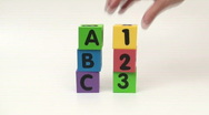 Stock Video Footage of Alphabet blocks ABC 123 - HD