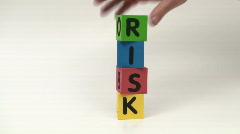 Alphabet blocks RISK - HD  Stock Footage