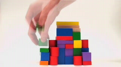 Building structure with blocks - HD  Stock Footage