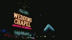 CandelightWeddingChapel Stock Footage