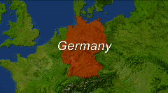 Zooming into Germany Stock Footage