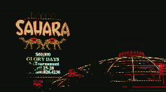 SaharaSignAndDomeWS Stock Footage